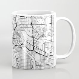 Minneapolis Map White Coffee Mug