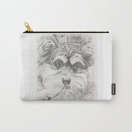 "Pencil Sketch ""Sophie"" our Puppy Carry-All Pouch"