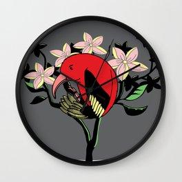 Hawaiian I'iwi Wall Clock