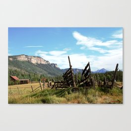 Time Weary Corral at the Haviland Lake Turnoff Canvas Print
