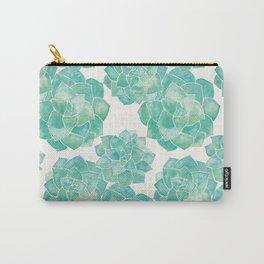 Rosette Succulents – Mint Palette Carry-All Pouch