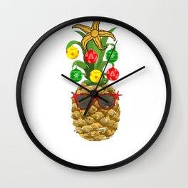 Mele KalikiMaka Aloha Christmas Wall Clock