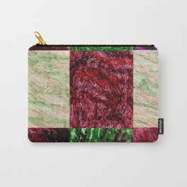 Patchwork color gradient and texture 2 Carry-All Pouch