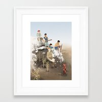 boys Framed Art Prints featuring Boys by Andrew Sutherland