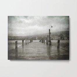 Bluebird Pier, Coniston Metal Print