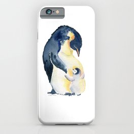 Love You Mom - Little Penguin and Mom iPhone Case