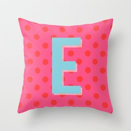E is for Excellent Throw Pillow