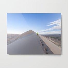 Footsteps in Gobi Metal Print