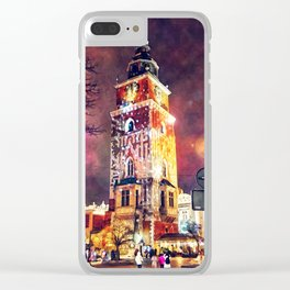 Cracow Town Hall Tower Clear iPhone Case