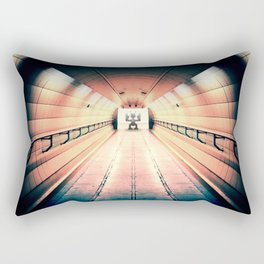Robot Guarding Tunnel Rectangular Pillow