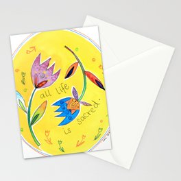 ALL LIFE IS SACRED  Stationery Cards