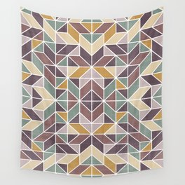 Patchwork inspider pattern 2 Wall Tapestry