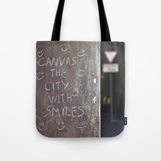 Canvas the City with Smiles Tote Bag
