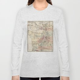 Vintage Map of The Puget Sound (1891) Long Sleeve T-shirt
