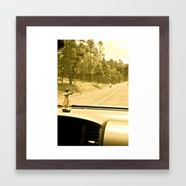 Lola on the Road, 003 Framed Art Print