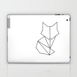 Geometric Fox - Black Laptop & iPad Skin