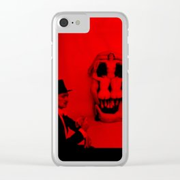 Salvador Dali with Women Skull (Photographic Art) Clear iPhone Case