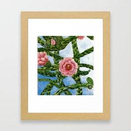 cacti in the sky Framed Art Print