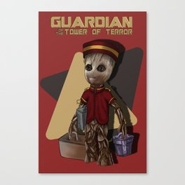 Guardian of the Tower of Terror by Topher Adam 2017 Canvas Print