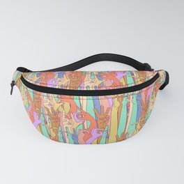Wild Thing Hand Alphabet Illustration Fanny Pack