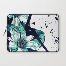 Autumn flowers in blue Laptop Sleeve