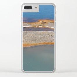 Yellowstone: Sulfur Pool 1 Clear iPhone Case