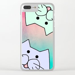 cats 222 Clear iPhone Case