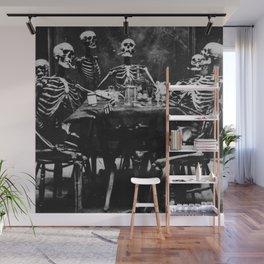 Six Skeletons Smoking Wall Mural
