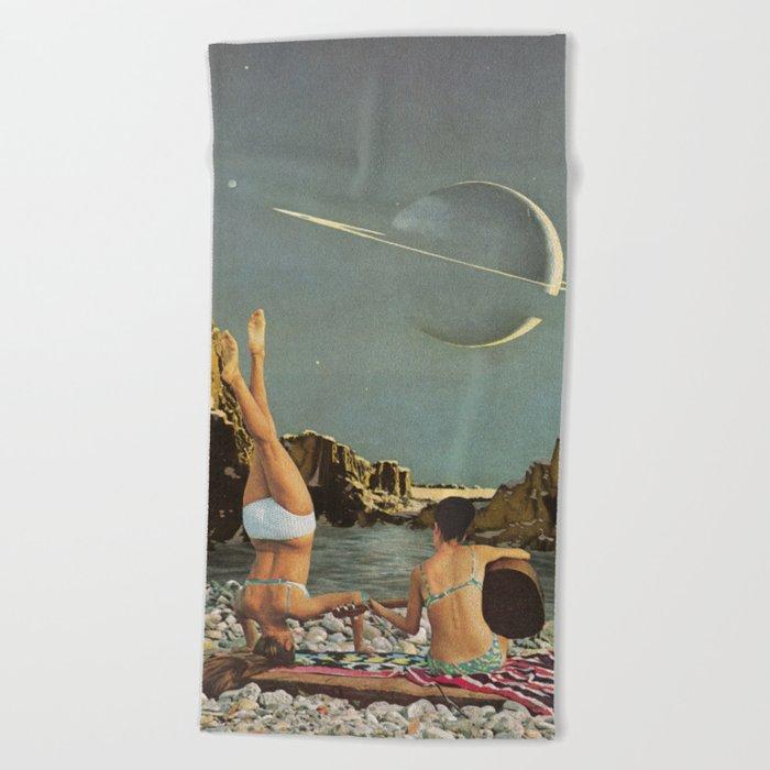 Serenade to Saturn Beach Towel