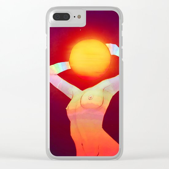 Sun Head Clear iPhone Case