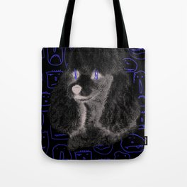Poodle Print Tote Bag