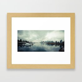 Vancouver Panorama 2 Framed Art Print