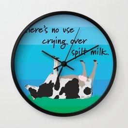 Spilt milk Wall Clock