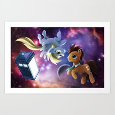 Whooves and Derpy Art Print