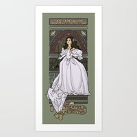 hallion Art Prints featuring Theatre de la Labyrinth by Karen Hallion Illustrations