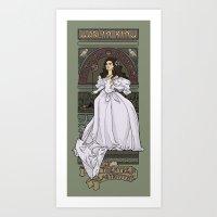 theatre Art Prints featuring Theatre de la Labyrinth by Karen Hallion Illustrations