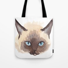 Winter Cat Tote Bag