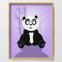 Panda Girl - Purple Serving Tray