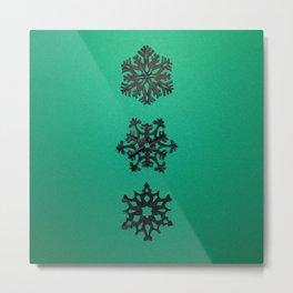 snow in black 002 Metal Print