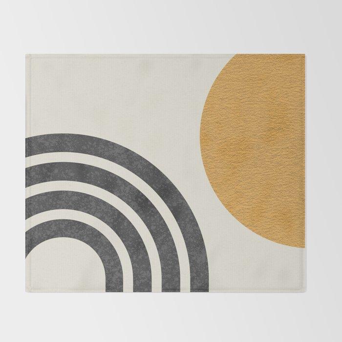 Mid century modern Sun & Rainbow Throw Blanket