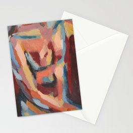 Abstract Man Stationery Cards