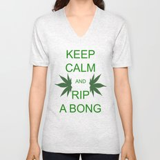 Keep Calm and Rip a Bong Unisex V-Neck