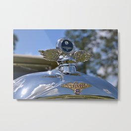 1937 Duesenberg JN Rollston SWB Convertible Hood Ornament and Temperature Gauge Metal Print