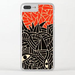 - fall : a red storm and the sea - Clear iPhone Case
