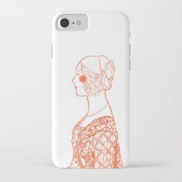 Renaissance Woman Sketch Drawing iPhone Case