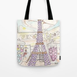 Eiffel Tower of French Macarons and Sweets in Paris  Tote Bag