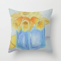 easter Throw Pillows featuring Easter by EVB.