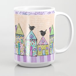 Pretty Little Houses - lavender Coffee Mug