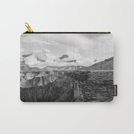 A Ledge on the Tonto Trail - The Grand Canyon - B&W Carry-All Pouch