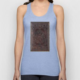 Ancient Leather Book Unisex Tank Top